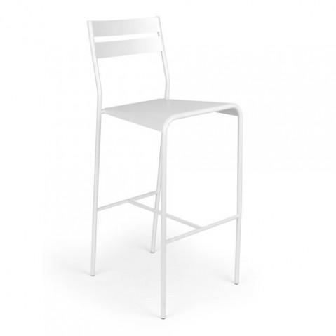 Facto Tabouret de Bar Design Fermob Blanc Coton
