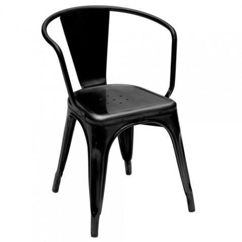 Fauteuil A56 Design Tolix Noir