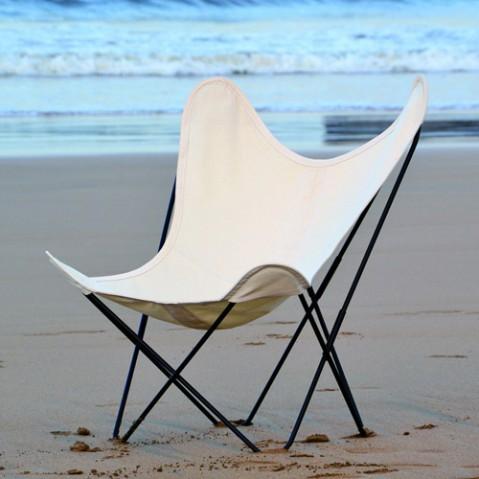 fauteuil aa coton airborne blanc naturel