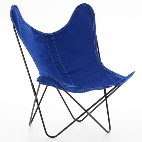 fauteuil aa coton airborne outremer