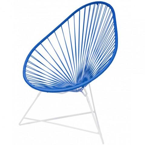 fauteuil acapulco blanc boqa bleu nuit