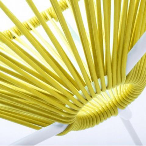 fauteuil acapulco blanc boqa jaune
