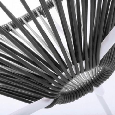 fauteuil acapulco blanc boqa noir
