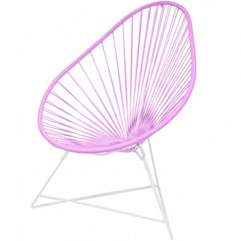 fauteuil acapulco blanc boqa rose
