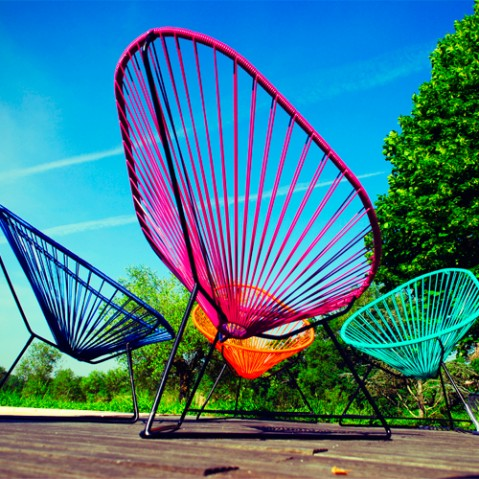 fauteuil acapulco boqa vert turquoise