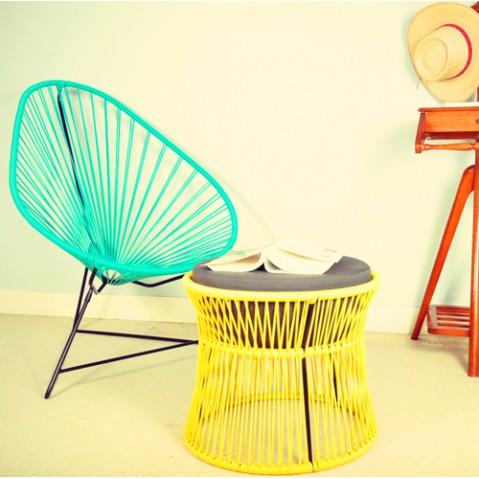fauteuil acapulco blanc boqa anis