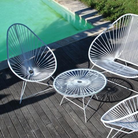 fauteuil acapulco blanc boqa gris