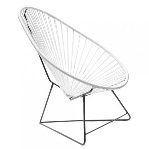 fauteuil acapulco boqa blanc