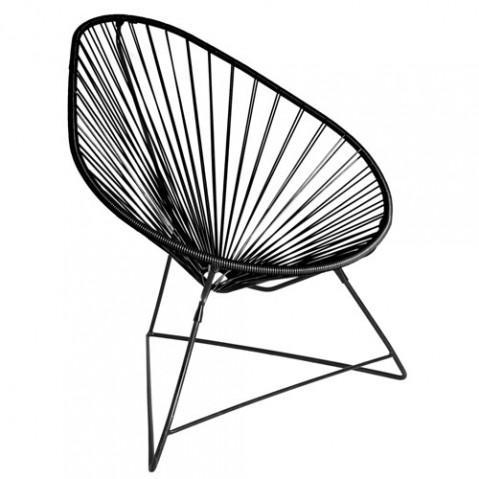 fauteuil acapulco boqa noir