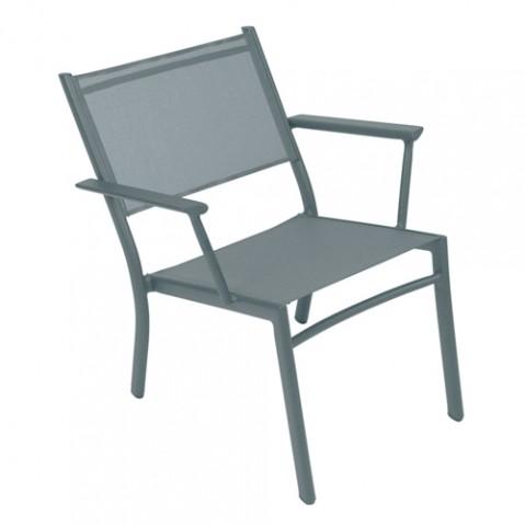 fauteuil bas costa fermob gris orage