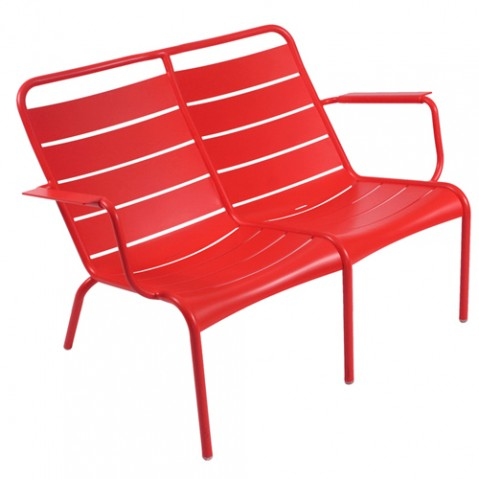 fauteuil bas duo luxembourg fermob coquelicot