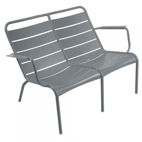 fauteuil bas duo luxembourg fermob gris orage