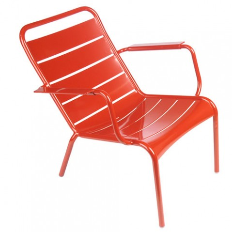 Luxembourg fauteuil bas fermob coquelicot