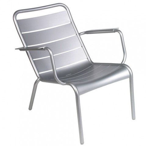 fauteuil bas luxembourg fermob gris metal