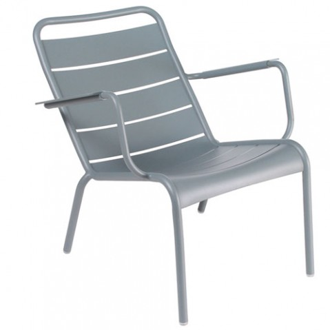 fauteuil bas luxembourg fermob gris orage