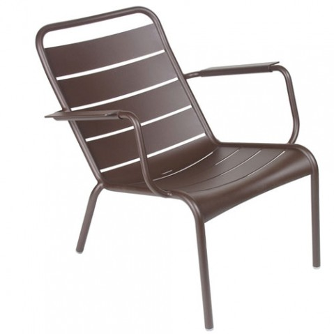 fauteuil bas luxembourg fermob rouille