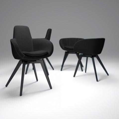 fauteuil scoop tom dixon noir