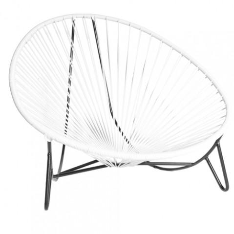 fauteuil bas tulum boqa blanc
