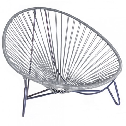 fauteuil bas tulum boqa gris