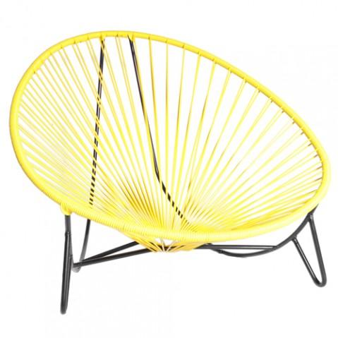 fauteuil bas tulum boqa jaune