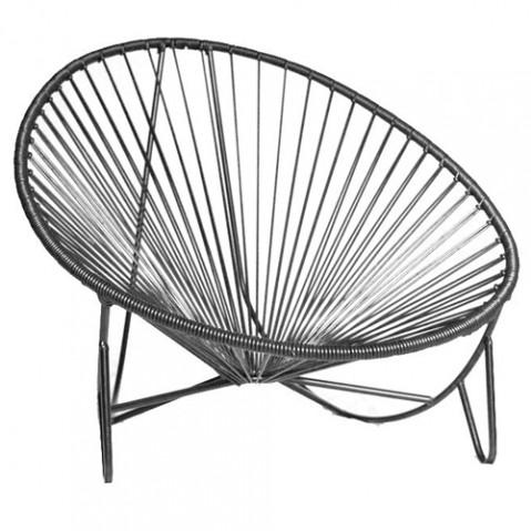 fauteuil bas tulum boqa noir
