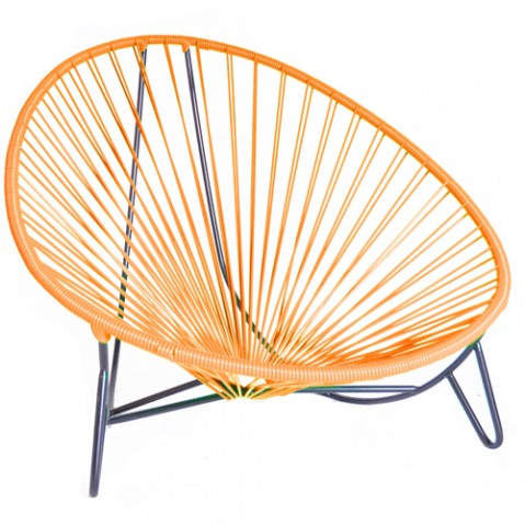 fauteuil bas tulum boqa orange