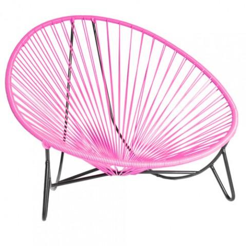 fauteuil bas tulum boqa rose