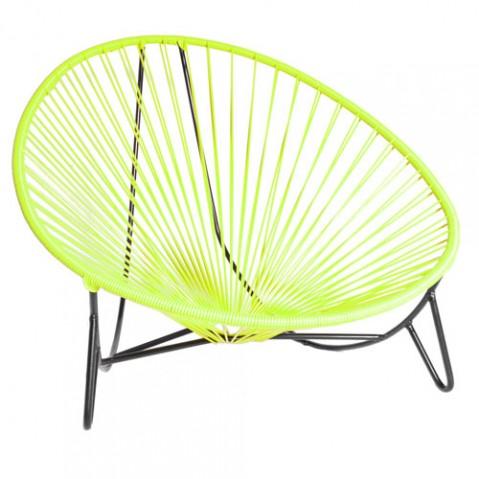 fauteuil bas tulum boqa vert anis