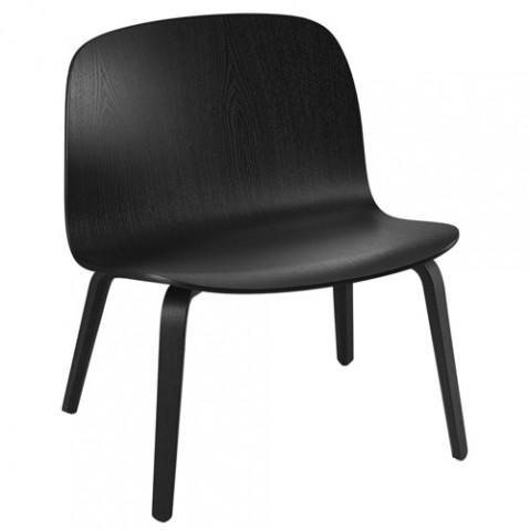 fauteuil bas visu lounge muuto noir