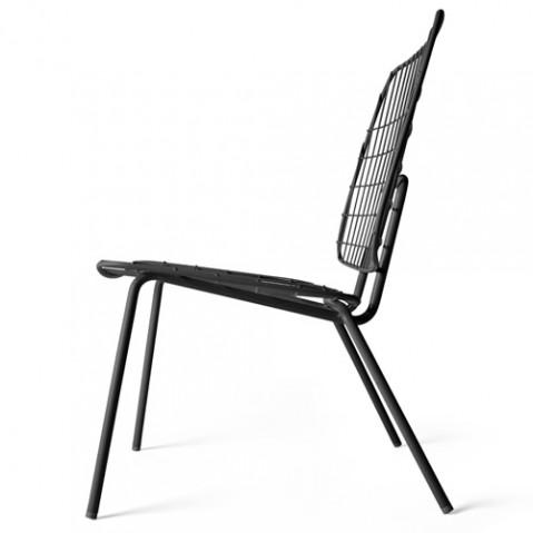 fauteuil bas wm string lounge menu noir