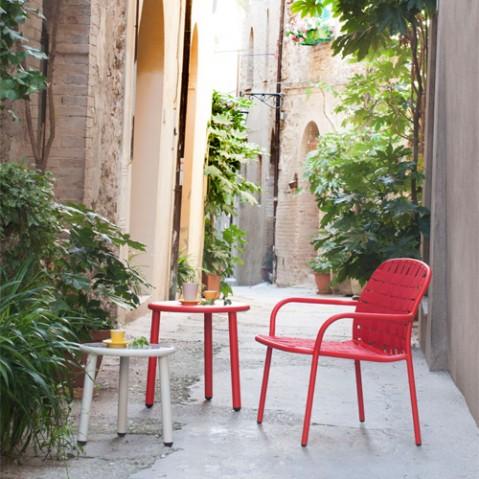 fauteuil bas yard emu rouge