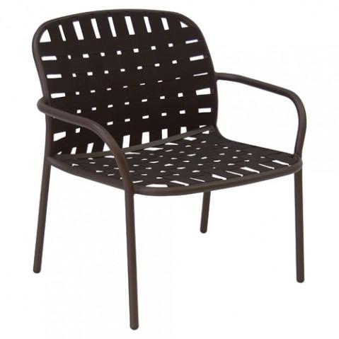 fauteuil bas yard emu marron