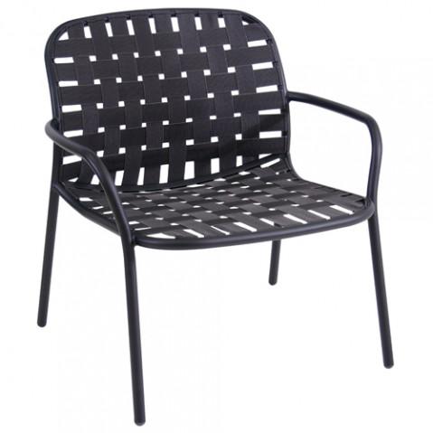 fauteuil bas yard emu noir