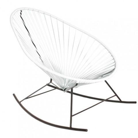 fauteuil bascule celestun boqa blanc