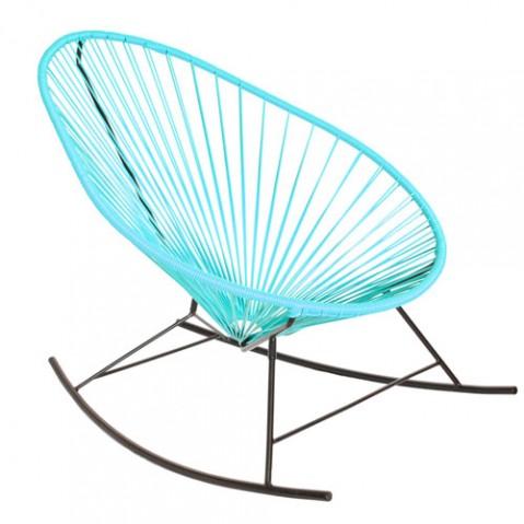 fauteuil bascule celestun boqa bleu ciel