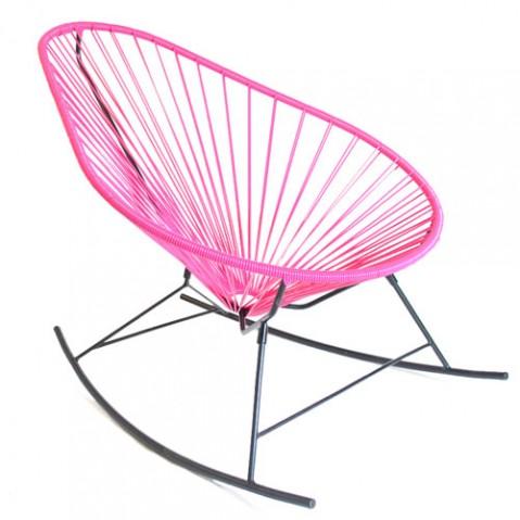 fauteuil bascule celestun boqa fuchsia