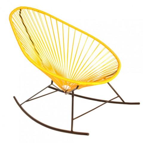 fauteuil bascule celestun boqa jaune
