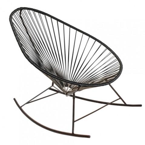 fauteuil bascule celestun boqa noir