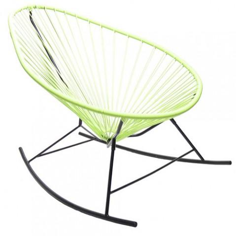 fauteuil bascule celestun boqa vert anis
