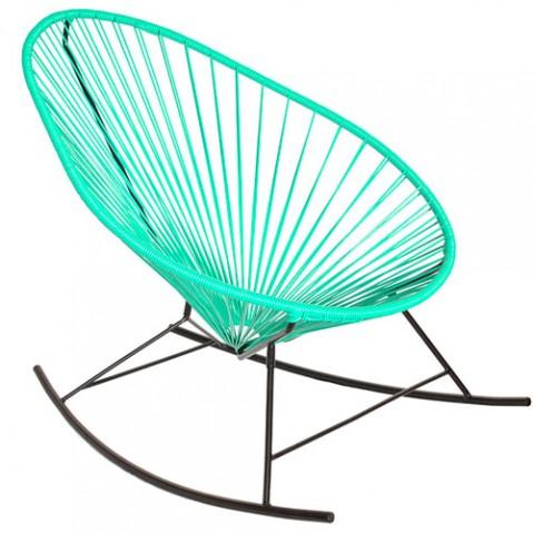fauteuil bascule celestun boqa vert turquoise