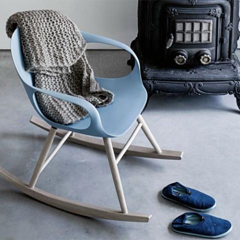 fauteuil bascule elephant kristalia bleu