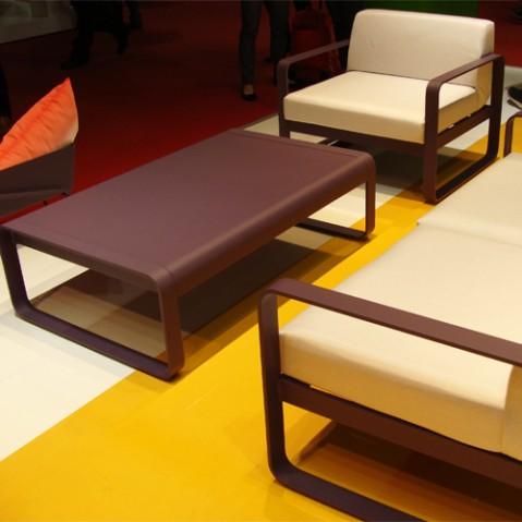 fauteuil bellevie fermob gris metal