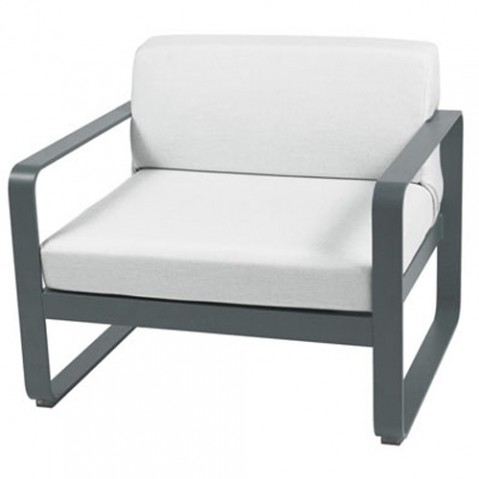 fauteuil bellevie fermob gris orage