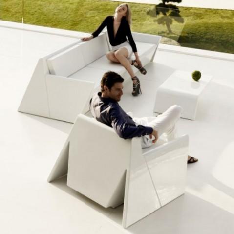 fauteuil rest vondom blanc mat
