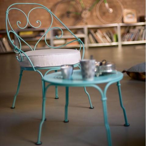 table basse 1900 fermob blanc