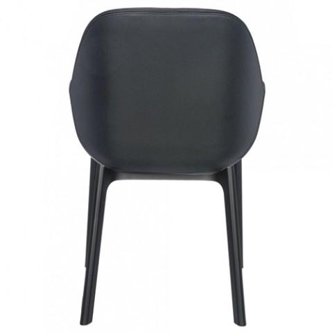 fauteuil clap pvc kartell noir gris