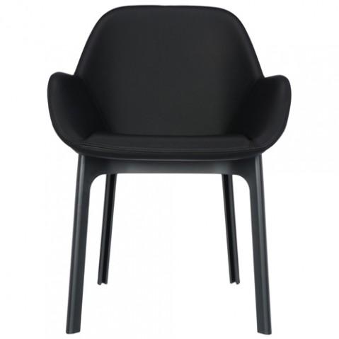 fauteuil clap pvc kartell noir noir