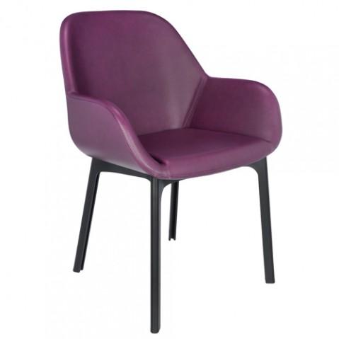 fauteuil clap pvc kartell noir prune