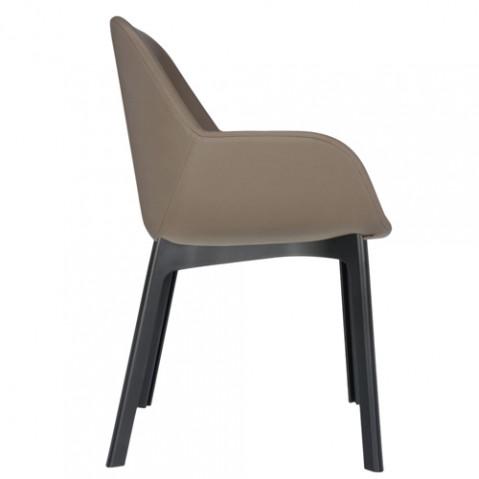 fauteuil clap pvc kartell noir tourterelle