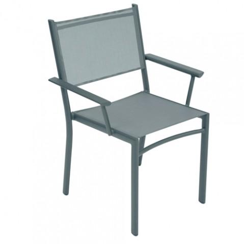 fauteuil costa fermob gris orage